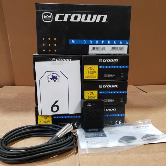 (7) CROWN PCC 130 MICROPHONES