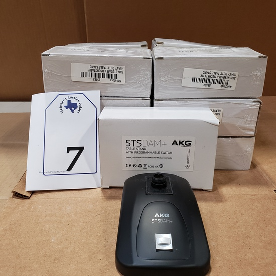 (7) AKG STS DAM+ TABLE STAND WITH PROGRAMMABLE SWITCH RETAIL $256 EACH