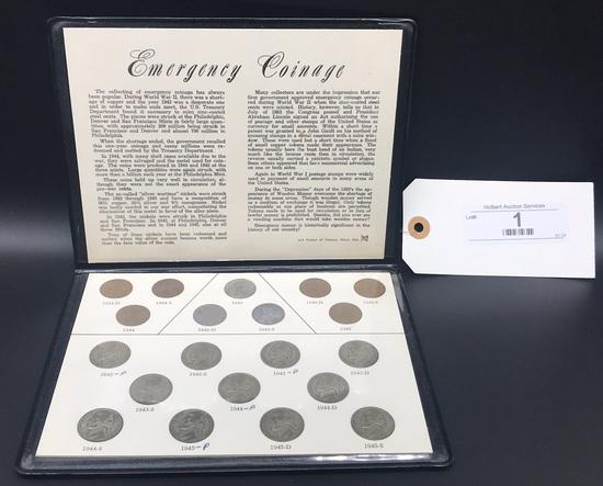 1942 - 1945 Emergency Coinage Set