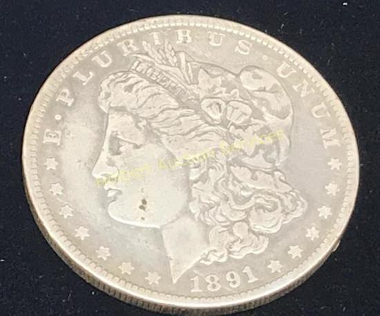 1891-0 $1 Morgan Silver Dollar Coin