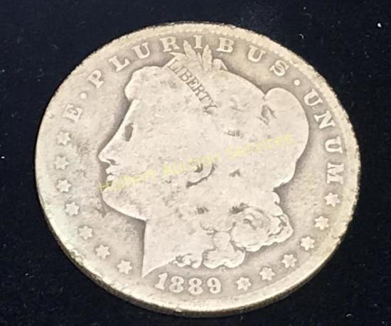 1889-0 $1 Morgan Silver Dollar Coin