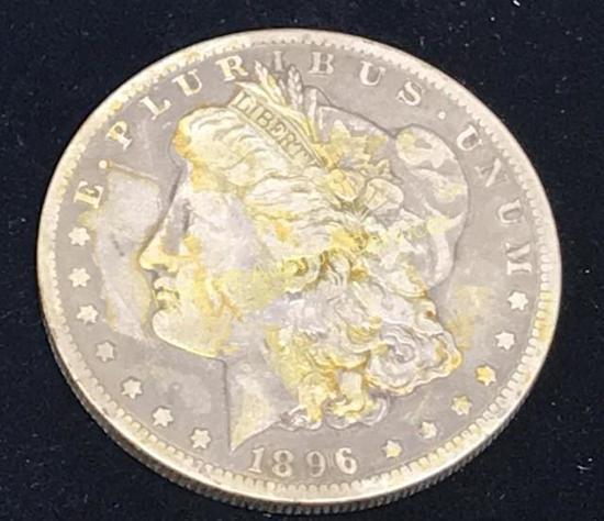 1896-0 $1 Morgan Silver Dollar Coin