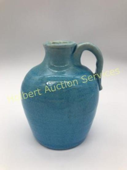 W.B. Stephen Signed Pisgah Forest Turquoise Jug