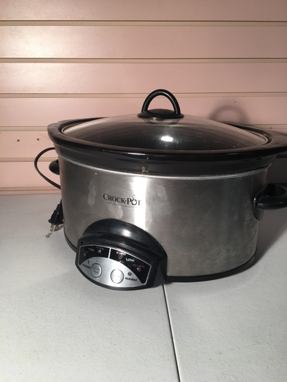 Six-Quart Black Crockpot