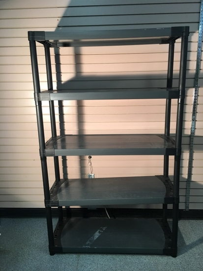Black Five Shelf Storage Unit
