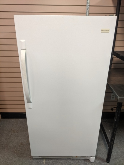 Frigidaire stand up freezer works