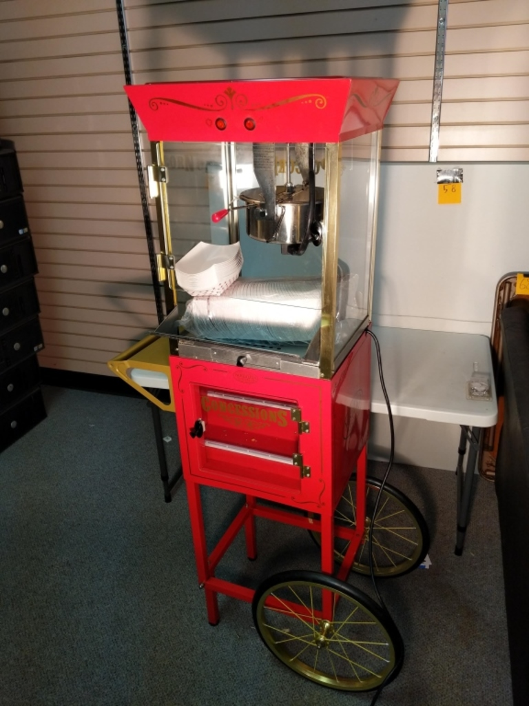 Nostalgia Electrics Popcorn maker with cart