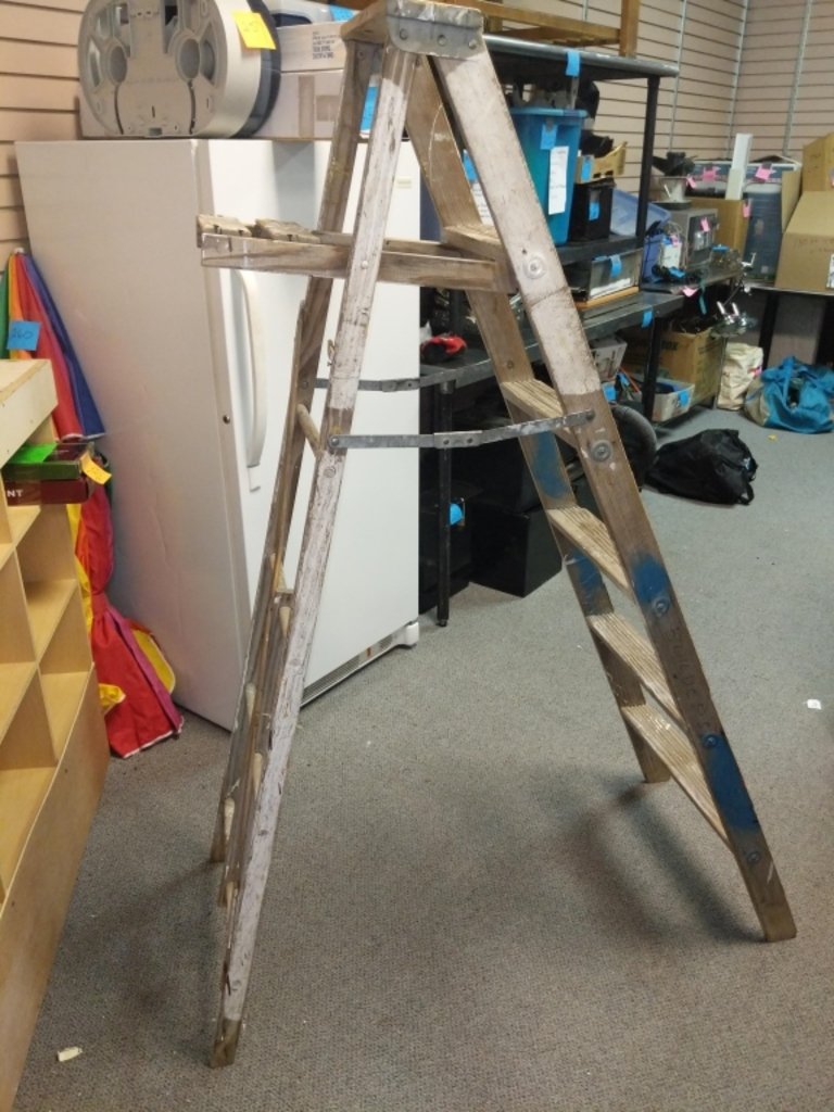 Wooden step ladder