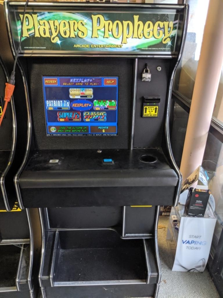Sweepstakes machine