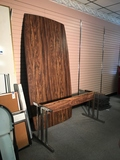 Conference Room Table 4 foot by 8 foot conference room table. Base of table needs repair.