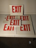 Exit sign face plates