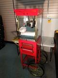 Nostalgia Electrics Popcorn maker with cart