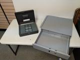 Cash box and drawer No locks or keys