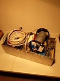 Wire, electrical parts, handy man lot