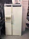 Kenmore Double double door refrigerator Doors taken off to fit in building, door attachments include