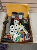 Supplies Calculators, three hole punch, tape guns, dry erase markers