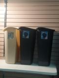 Three 13 Gal trash cans
