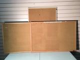 Cork Boards Three cork boards