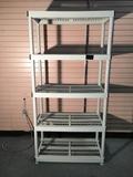 Five Shelf Plastic Storage Unit