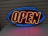 Flashing Open Sign