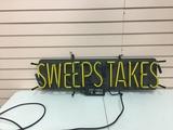 Sweepstakes Neon Sign Needs electric work