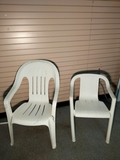 Plastic Chairs w/ footrest