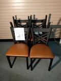 Metal Cross back Chair 18