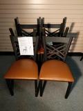Metal Cross Back Chairs 18