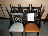 Metal Cross Back Chair 8 chairs.  18
