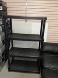 Four shelf plastic storage unit