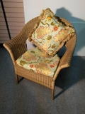 Cane Chair with cushions