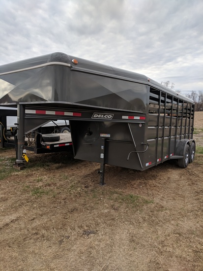 NEW! Delco Gooseneck Livestock Trailer