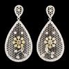 18K Gold 4.16ctw Diamond Earrings