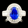 18K Gold 3.96ct Tanzanite & 1.31ctw Diamond Ring