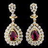 18K Gold 2.02ct Ruby & 2.76ctw Diamond Earrings
