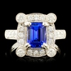 18K Gold 2.01ct Tanzanite & 1.04ctw Diamond Ring