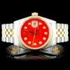 Rolex YG/SS 36MM DateJust Diamond Wristwatch