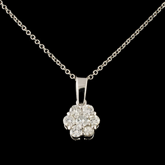 14K Gold 0.51ctw Diamond Pendant