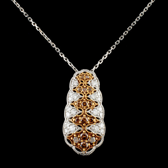 14K Gold 0.87ctw Diamond Pendant