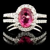 18K Gold 1.31ctw Sapphire & 0.54ctw Diamond Ring
