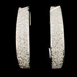 18K Gold 0.79ctw Diamond Earrings