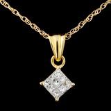 18K Gold 0.30ctw Diamond Pendant