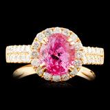 18K Gold 2.29ct Spinel & 0.76ctw Diamond Ring