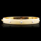18K Gold 0.30ctw Diamond Bangle