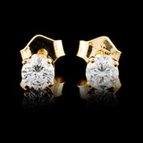 14K Gold 0.44ctw Diamond Earrings