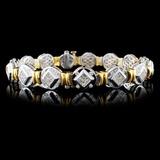 18K Two Tone 3.81ctw Diamond Bracelet