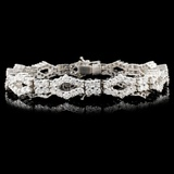18K Gold 8.12ctw Diamond Bracelet