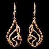 14K Gold 0.89ctw Diamond Earrings