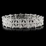 18K White Gold 3.25ctw Diamond Bracelet