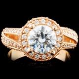 14K Gold 1.71ctw Diamond Ring